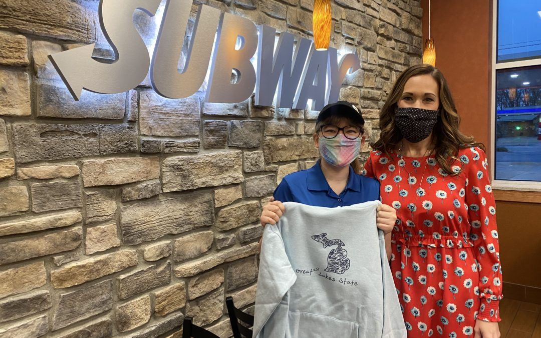Forward Corp. Subway employee lends talent to T.R. McTaggart