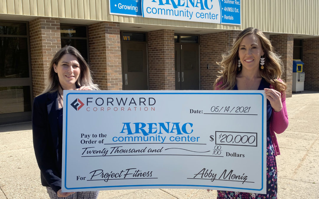 Arenac Community Center raises over $20K to earn Forward Corp. match