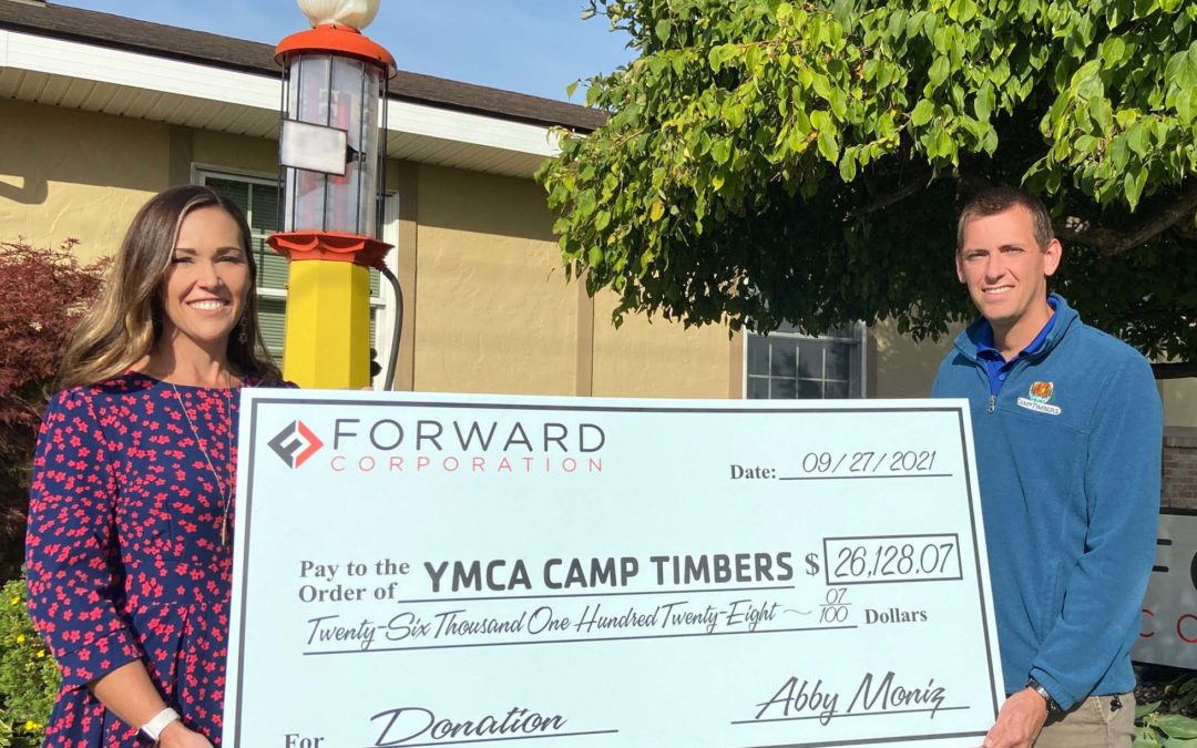 Forward Corp. Raises Over $26,000 for Camp Timbers of West Branch