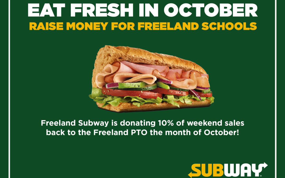 Freeland Subway donating portion of October sales to local PTO
